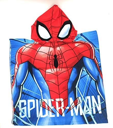 Poncho con Capa para niños, Capa de baño Infantil, Poncho Patrulla Canina, Poncho Unicornio, Spiderman(C)
