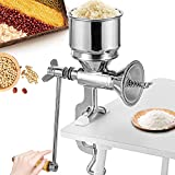 Moongiantgo Hand Grain Grinder Mill Manual Coffee Grinder Stainless Steel Grinder Hand Crank for...