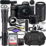 Nikon Z5 Mirrorless Digital Camera with 24-50mm Lens (1642) & AF-P 70-300mm Lens Bundle + 420-800mm MF Zoom Telephoto + Prime Accessory Kit Including 128GB Memory, Microphone, Case & More