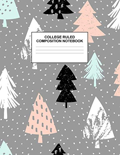 College Ruled Composition Notebook: Cute Blank Lined Journal to Write In with White Paper Rule Pages for School Subject and Writing Pad: Design Code A4 1487