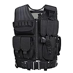 powerful GZ XINXING Tactical Airsoft CS Vest (Black)