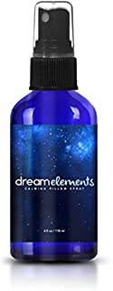 Dream Elements Calming Pillow Spray -- for Relaxation and Deep, Restful Sleep - Soothing Essential Oil Blend - Formulated with Lavender - Orange - Ylang-Ylang - Chamomile - and Vetiver (4oz)