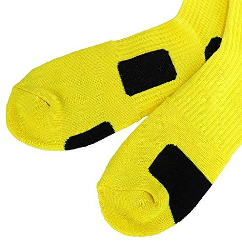 Calcetines baloncesto amarillos