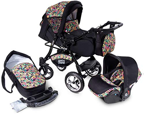 GaGaDumi Urbano Kombikinderwagen Kinderwagen Babyschale 3in1 System Autositz (U9-Paradise)