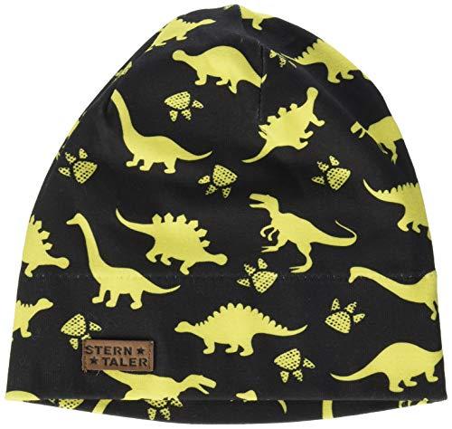 Sterntaler Jungen Slouch-Beanie mit Dinosaurier-Motiven und Aufnäher