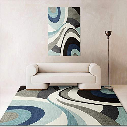 Kunsen Sofa Abstrakter kreativer geometrischer moderner Teppichkorridor Schlafzimmer Waschbare und Pflegeleichte dekorative Teppiche Wohnzimmergroßer Teppich Schlafzimmer Rutschfester Teppi130x190CM