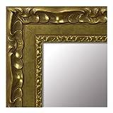 Espejo de Madera Fabricado en España - Espejo Vestidor, Salón, Baño, Entraditas. (268 Oro, 64x164 cm)