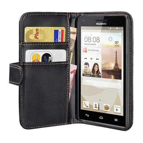 PEDEA Bookstyle Hülle für Huawei Ascend G6 Tasche, schwarz