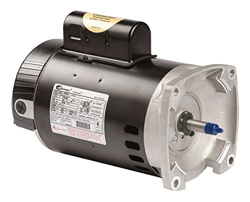 Century B2853 Square Flange Pool Pump Replacement Motor AO Smith Electric Motor, 1 hp, 3450rpm, 56Y Frame, 115/230 volts