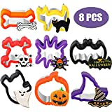 Halloween Cookie Cutters Set Sandwiches Cookie Cutter Molds Stainless Steel Biscuit Cutters for Halloween Party Cookie Sandwich Biscuit Supplies (8, Style 1)
