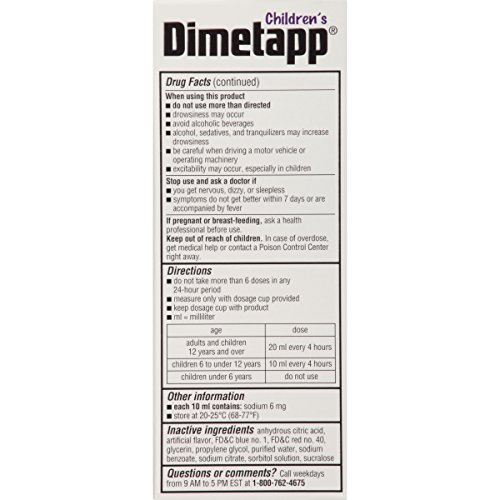 Dimetapp Children's Cold and Allergy Syrup Grape - 4 fl oz