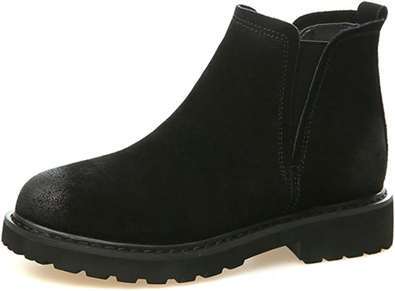 Fay Waters Women's Martin Boots Genuine Leather Pointed Toe Snow Boots Ankle Winter Booties Warm shoes