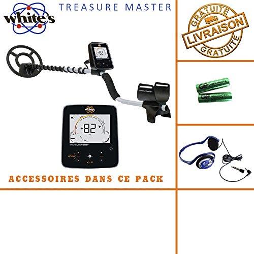 White 's Treasure Master - Incluye casco, auriculares y bolsa
