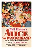 Affiche HSE Disney ALICE au pays des merveilles 24X36 plus Cheshire Chat & Lapin rare