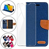 HYMY Bookstyle Flip Phone Case Cover Shell for Alcatel 1X