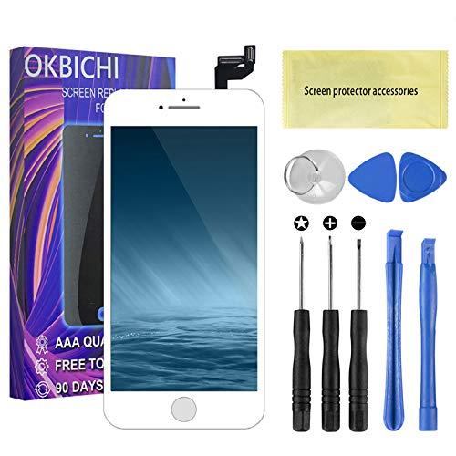 OKBICHI - Pantalla táctil de repuesto para iPhone 6S, pantalla LCD, digitalizador de pantalla táctil para iPhone 6 de 4,7 pulgadas...