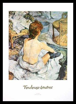 Germanposters Henri Toulouse-Lautrec Die Toilette Poster Kunstdruck Bild im Alu Rahmen in schwarz 70x50cm