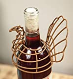 "CC Home Furnishings Set of 4 Brown Decorative Turkey Wire Wine Bottle Topper 5.25"" x 2.25"" x 9"""