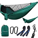 Tolaccea Camping Hammock , Hammock with Mosquito Net , Parachute Material , Lightweight and Portable Hammock for Indoor , Outdoor , Hiking , Camping , Backpacking , Travel , Backyard , Adventures