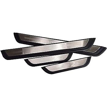 Akkne 2pcs Edelstahl Türschwellen Trittplatte Einstiegsleisten Für Opel Corsa Mk Iv 2014 2019 Schwellen Pedalschutz Abnutzungs Kick Plates Trimm Aufkleber Auto Styling Zubehör Küche Haushalt