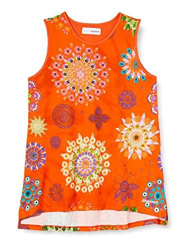 Desigual TS_tulancingo T-Shirt, Arancione (Naranja 7002), 4 Anni Bambina