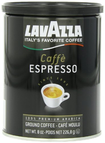 Lavazza Caffe Espresso Ground Coffee, 8-Ounce Cans (Pack of 2) Size: Pack of 2 Model: (Home & Kitchen)