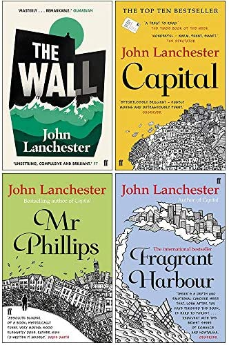 John Lanchester Collection 4 Books Set The Wall Capital Mr Phillips Fragrant Harbour product image