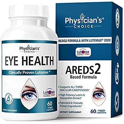 Areds 2 Eye Vitamins (Clinically Proven LuteMax 2020) Lutein, Zeaxanthin and Bilberry Supplement, Supports Eye Strain, Dry Eye and Vision Health, 2 Award Winning Eye Ingredients
