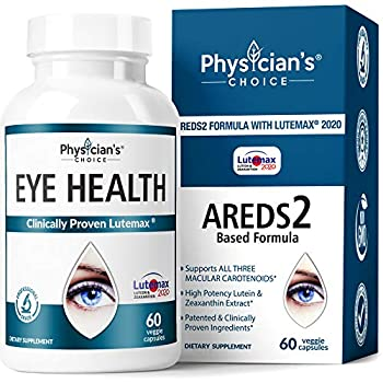 Areds 2 Eye Vitamins  Clinically Proven LuteMax 2020  Lutein Zeaxanthin and Bilberry Supplement Supports Eye Strain Dry Eye and Vision Health 2 Award Winning Eye Ingredients