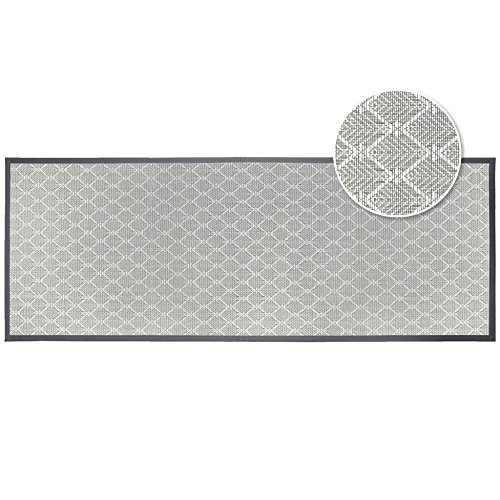 Déco Tapis Triano 1740632 - Alfombra Rectangular (PVC, 40 x 60 cm), Color Gris