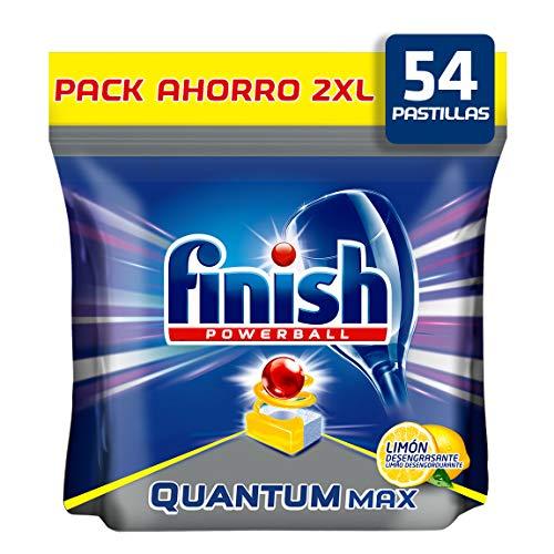 Finish Quantum Limón Pastillas para Lavavajillas – 54 Unidades