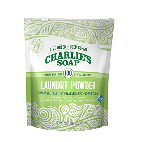 Charlie's Soap Laundry Powder (100 Loads, 1 Pack) Hypoallergenic Deep Cleaning Washing Powder...