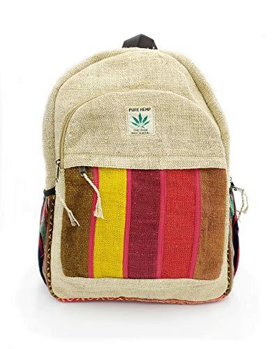 Rucksack aus Hanf, Natürliche Tasche, Handgemacht in Nepal, Milke