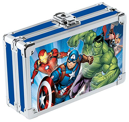 Vaultz Locking Supply Box and Pencil Box, 8.5 x 5 x 2.5 Inches, Avengers Design