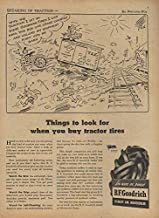 Things to look for when you buy tractor tires B F Goodrich ad 1944 Fontaine Fox