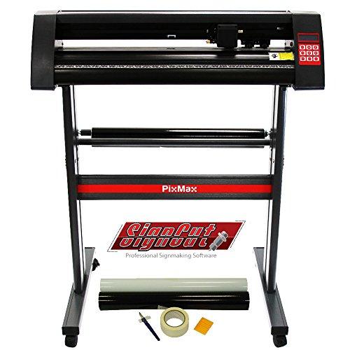 PixMax 72cm Schneideplotter Folienplotter Plotter & Vorbereitungsset, Vinylrollen & Gratis Roland Schneidemesser