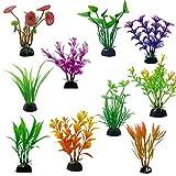 Plantas de Acuario,20 PCS Plantas Acuario Artificiales Decoraciones de Plástico para Peceras para Decoración de Acuarios