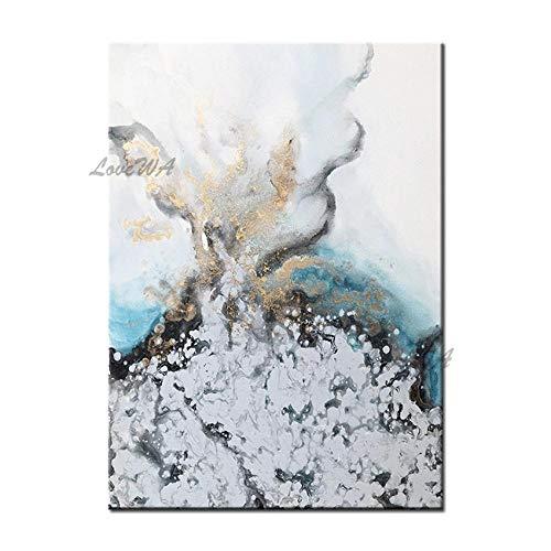 ZNYB Decoracion Pared Cuadro Pintura al óleo de Tinte Abstracto Lienzo Arte de Pared Pintado a Mano Abstracto decoración del hogar Pinturas Pieza Arte de Pared para decoración de Comedor