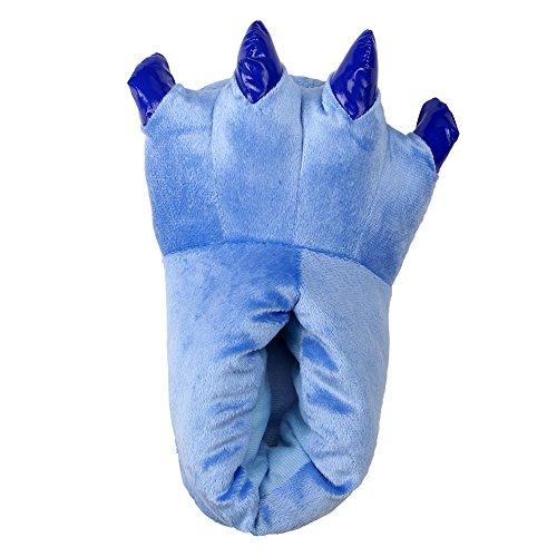 LATH.PIN Unisex Puschen Plüsch Hausschuhe Pantoffeln Kostüme Tierhausschuhe Geschenkidee, Blau, L