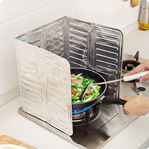 Keuken Gereedschap en Gadgets Nieuwste Koken Frying Oil Splash Guard Gas Fornuis Zilver 84X32.5Cm Verwijdering Scald Proof Board, Zilver