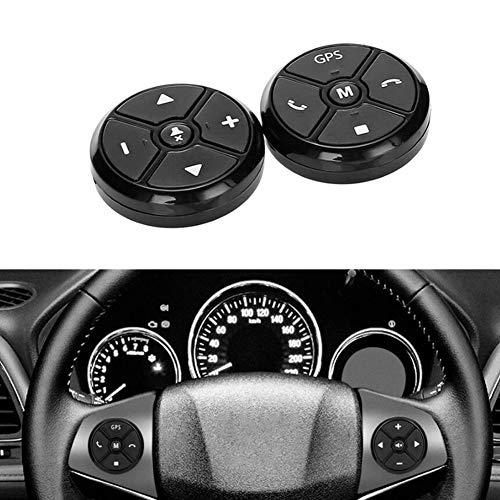 2X Control del Volante del Coche de 2 DIN Botón inalámbrico de la música de navegación del DVD GPS Control Remoto portátil