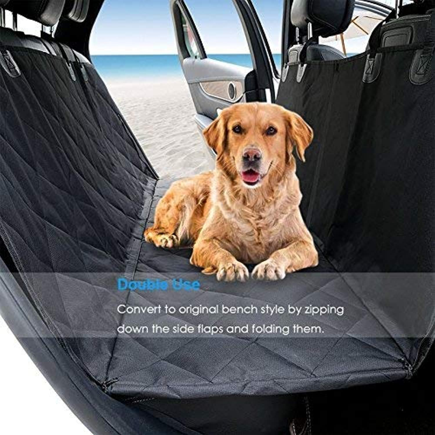 Original Pet Car Seat Cover Hammock Heavy Duty Waterproof Scratch Proof Nonslip Durable Soft Pet Back Seat Covers for Cars Trucks and SUVs