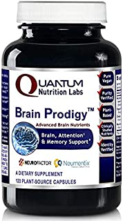 Brain Prodigy, 120 Vegan Caps - Advanced Brain Nutrients for Brain, Memory, Mood and Attention Support