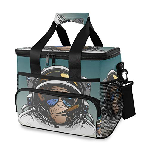 Pac Mac Soft Cooler Bag 24-Can Pilot Bear Grocery Bags Collapsible Travel Cooler for Outdoor Travel Hiking Beach Picnic BBQ Party