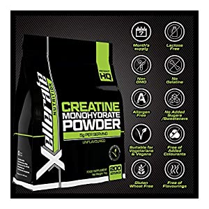 Creatine Monohydrate Powder Micronised   1kg Equivalent to 200 Servings or 7 Month Supply   Finest Grade, Pure and Unflavoured Sports Vegetarian and Vegan Powder   Made in The UK by Nu U Nutrition