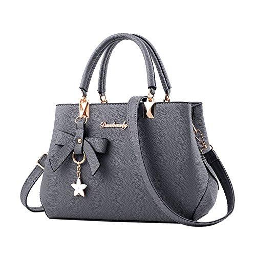 LEEDY Women Leather Handbag,Ladies Shoulder Bag-Messenger Satchel Shoulder Crossbody Tote Bag