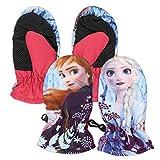 Characters Cartoons Frozen Movie II - Guanti da Sci Neve Sport Invernali Con Polsino Elasticizzato - Bambina [125 Fucsia 1 Dito - 3/4 A]