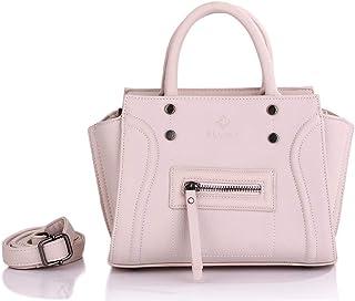 Elliez Faux Leather Bag for Women, White - Baguettes