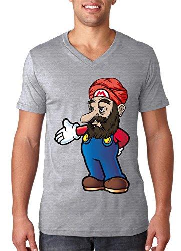 Arabic Mario T-shirt heren V-hals T-shirt