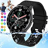Topkech Smart Watch, Bluetooth Smartwatch for Android Phones,Ip67 Waterproof Fitness Watch with Blood Pressure Heart Rate Monitor Activity Tracker with Pedometer Compatible for Samsung iOS Women Men